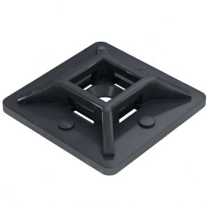 Black, self-adhesive cable tie bases