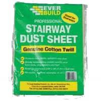 stair case cotton twill dust sheet