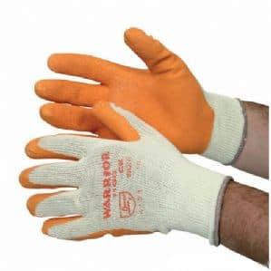warrior gloves size 10 size 9 orange grip brick handling safety glove