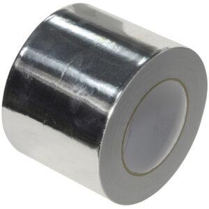 Extra wide silver aluminum foil tape 100mm x 45m heat & light reflective