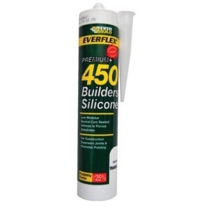 Everbuild everflex 450 builders silicone white clear