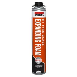 Soudal B1 Fire rated expanding foam gun grade