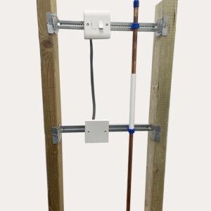 Telescopic mounting bracket- caddy straps