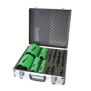 premier diamond core drill set 5 core kit & accessories extension rod, adaptors and pilot drill