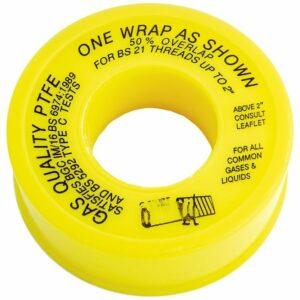 Plumbers Yellow Gas PTFE Tape