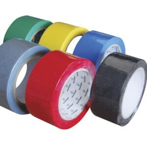 Duct tape 50mm x 50m silver yellow red blue white