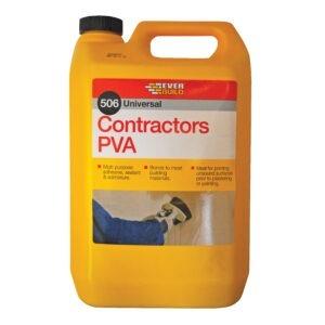 Everbuild 506 contractors pva 5 litre/1 litre