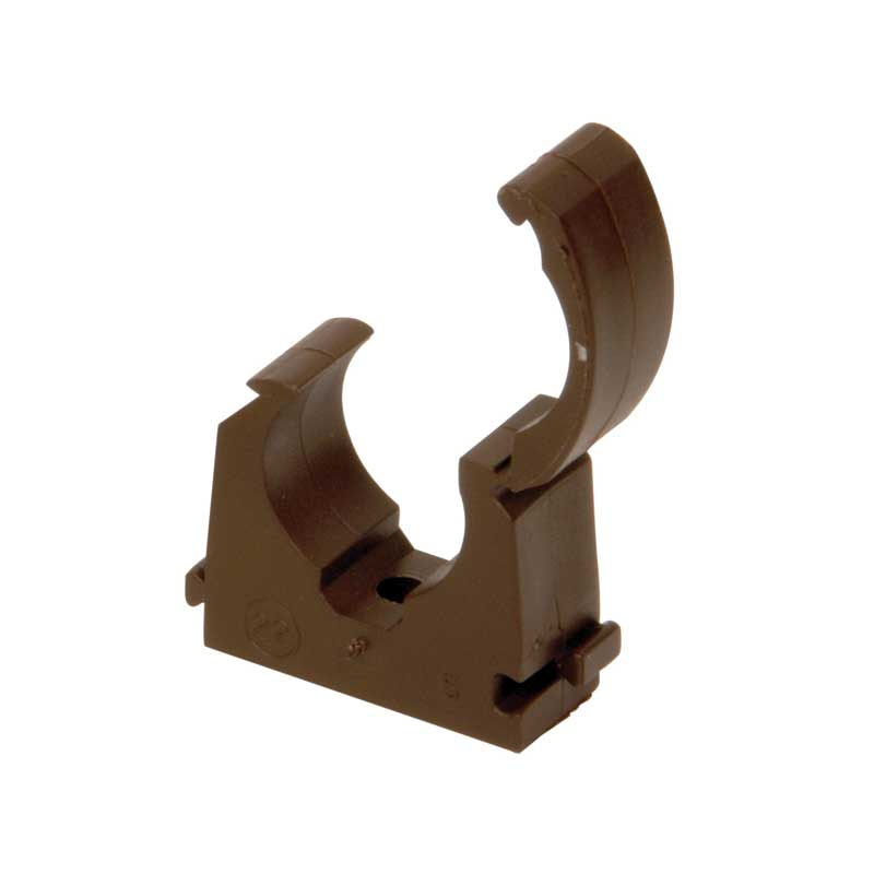 Talon Brown Hinged Pipe Clip 15mm 22mm TSBR15 TSBR22
