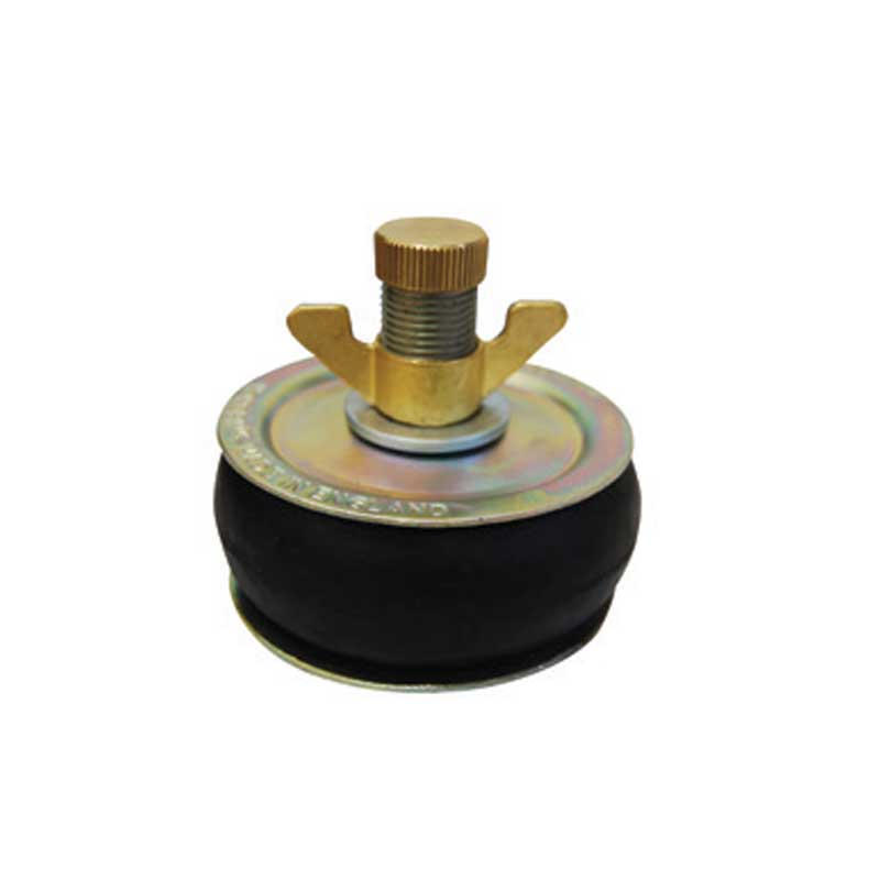 100mm drain test plug for use with drain bag testing . Drain plug
