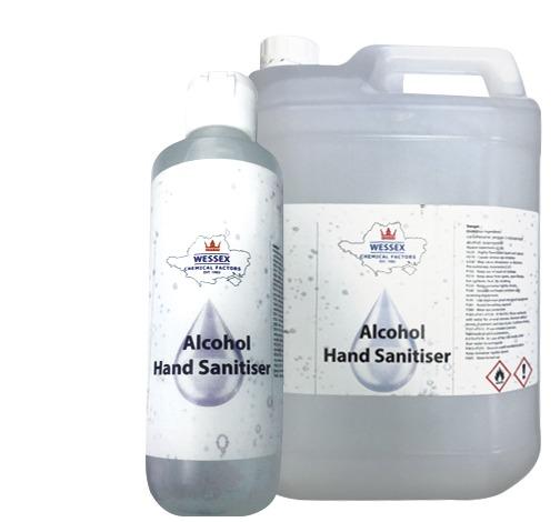 alcohol hand sanitiser gel 250ml 5 litre