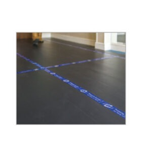 Correx Floor Protect Board BLACK/WHITE FIRE RETARDANT 2.4M X 1.2M X 2mm for impact protection fluted