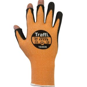 Traffiglove TG3220 Cut LEVEL b Cut index B Handling gloves with exposed finger tips