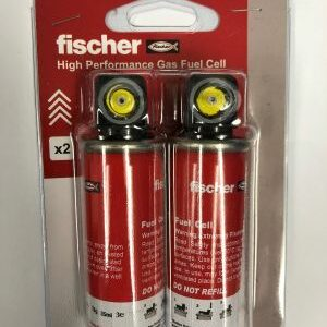 Fischer High performance gas fuel cells for 2nd fix brad nails straight & angled